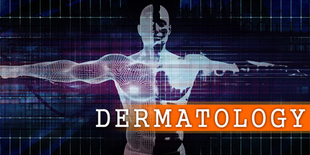 Dermatology Medical Industry with Human Body Scan Concept