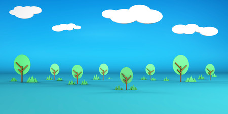 Open Field Artistic Cartoon Abstract Background Art
