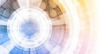 ciencia de la ciencia como un arte abstracto del fondo futurista