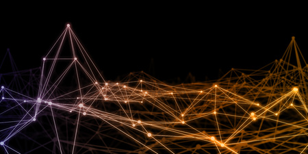 Technology Network as a Futuristic Abstract Background Concept