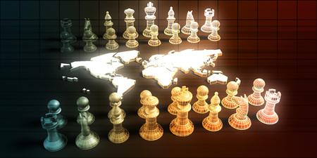Business Tactics and Chess Game Analysis Concept Art Reklamní fotografie