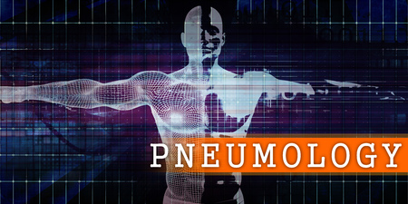 Pneumology Medical Industry with Human Body Scan Concept