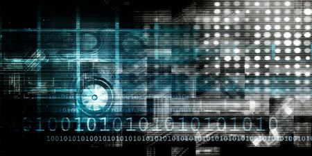 Futuristic Science as a Digital Background Art