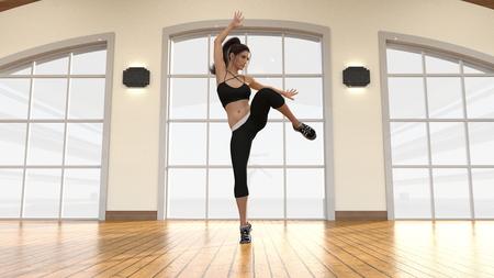 Modern Dance with Female Dancer Dancing Artistically