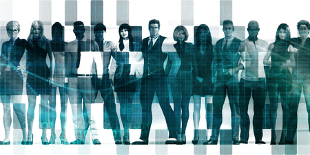 Business People Abstract with Diverse Group Standing Together Stock fotó