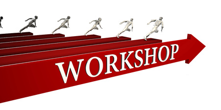 Workshop Solutions with Business People Running To Success Фото со стока