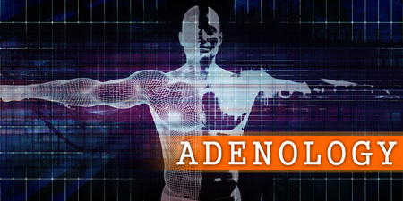 Adenology Medical Industry with Human Body Scan Concept