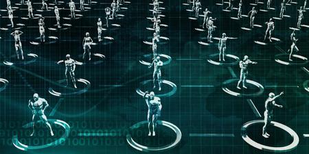 Digital Communications Platform to Communicate Online Concept