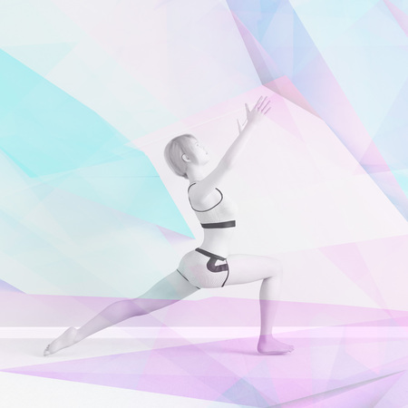 Creative Yoga Abstract Background Fitness Concept