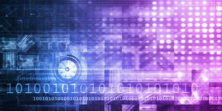 Futuristic Science as a Digital Background Art Stockfoto