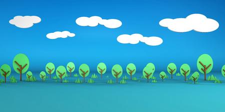 Open Field Artistic Cartoon Abstract Background Art