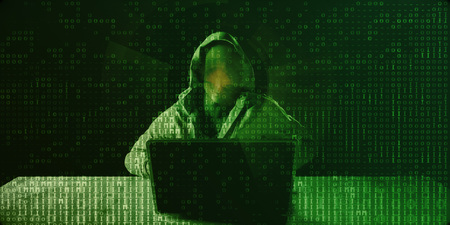 Data Theft and Fraud as a Digital Concept Abstract 스톡 콘텐츠