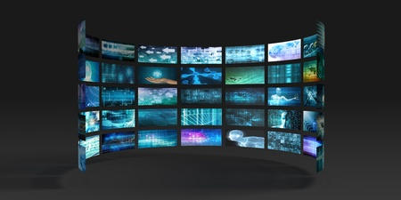 Disruptive Technology and Innovation in New Market Stock Photo