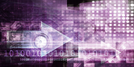 Technology Abstract as a Virtual Software Background Concept 写真素材 - 118637962