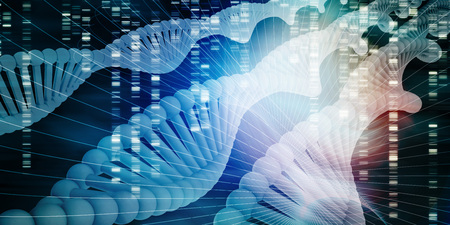 DNA Molecule Helix Science Abstract Background Art
