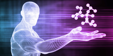 Science Atom and Chemical Formula as Concept Banque d'images - 118638244