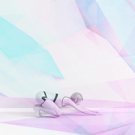 Yoga Wallpaper Fitness Health Concept Abstract Art