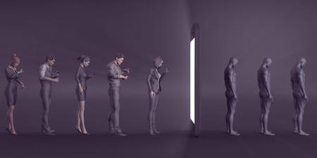 Mobile Phone Addiction as a Growing Problem Concept Stock fotó