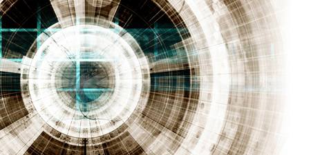 Virtual Technology as a Digital Abstract Background