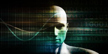 Digital Economy on Digital Computing Technologies Concept Banque d'images - 119502359