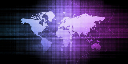 International Business Concept Background with Network Data 写真素材
