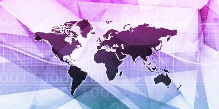 Global Communication Business Network Abstract Background