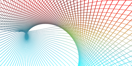 Morphing Mesmerizing Lines Abstract Pattern Art Stock Photo