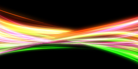 Streaks of Light Mixing Together with Gradient Colors