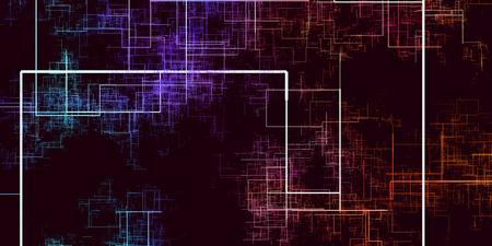 Fondo abstracto de tecnologías disruptivas de Internet de las cosas Foto de archivo