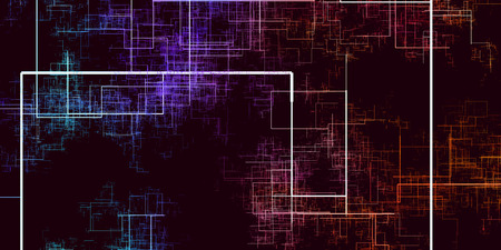 Internet of Things disruptieve technologieën abstracte achtergrond Stockfoto