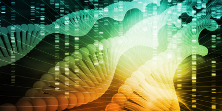 DNA Helix Strand Abstract Background Concept Art Stok Fotoğraf