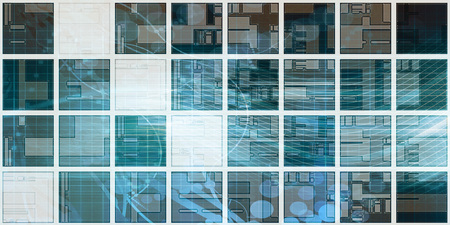 Futuristic Data Visualization Clean Abstract Background Art