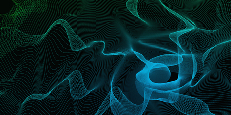 Pulsating Energy Lines as an Abstract Background Art Stock Photo