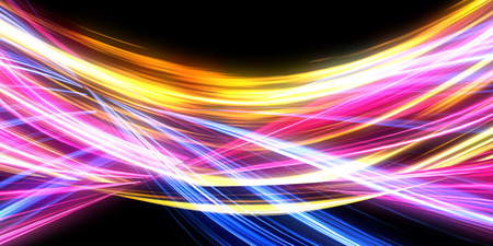 Abstract Light Background Concept with Pulsating Energy