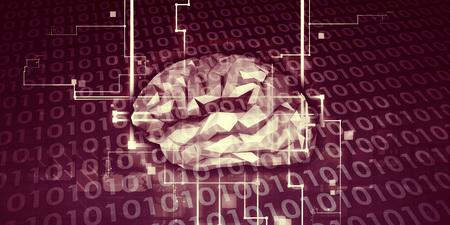 Maschinelles Lernen AI Künstliche Intelligenz Abstraktes Konzept