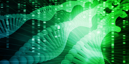 Futuristic Science Background with DNA Sequence Data Stockfoto