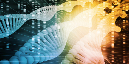 Science Technology Medical Abstract Background with DNA Stock Photo
