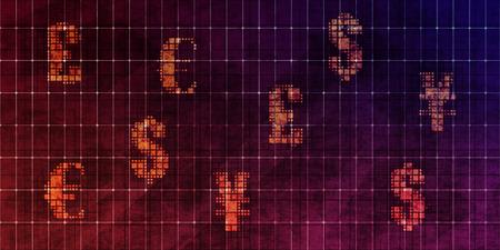 Currency Trading Grunge Wallpaper or Forex Background Art Banco de Imagens - 123545187