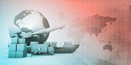 Supply Chain Logistics Connected Through Transport as Concept