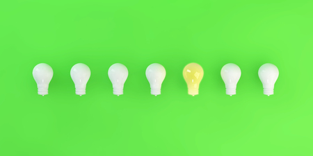 Idea and Innovation Concept with Bulb Layout