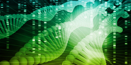 Genetic Code Sequence of DNA Protein Art Stock Photo