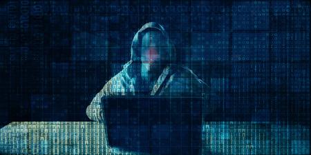 Criminalité numérique avec Hacker Syndicate Accès illégal aux données Banque d'images