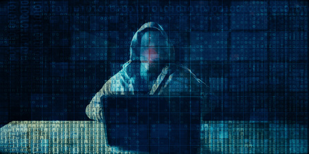 Digital Crime with Hacker Syndicate Illegal Access to Data Standard-Bild