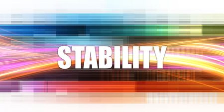 Stability Corporate Concept Exciting Presentation Slide Art Zdjęcie Seryjne