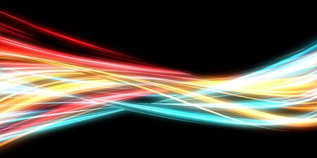 Neon Streaks Modern Abstract Background with Glowing Lines