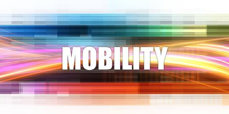 Mobility Corporate Concept Exciting Presentation Slide Art