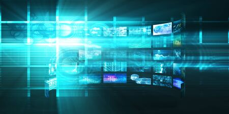 Tecnologia di trasmissione multimediale digitale come concetto di media