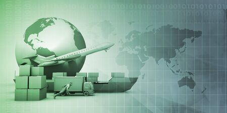 Supply Chain Management Industry Abstract Background Concept