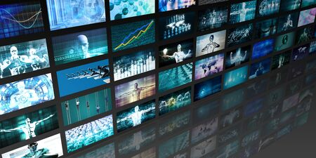 Video Screens Abstract Background for Multimedia Concept