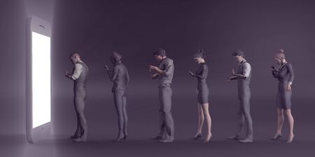 Smartphone Problems in Society as a Concept Banco de Imagens